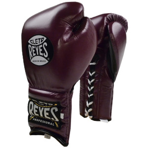 Cleto Reyes Traditional Lace Up Training Boxing Gloves - Purple