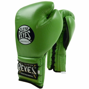 Lace Up Training Boxing Gloves - Citrus Green