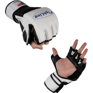 Fighting Sports MMA Grappling Training Gloves - White/Black