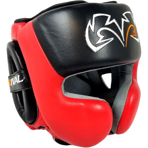 RIVAL Boxing RHG30 Mexican Training Headgear - Black/Red