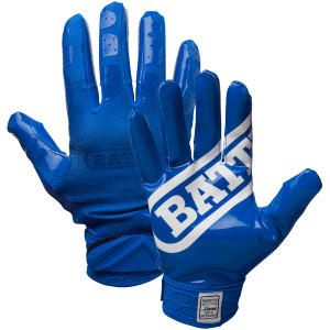 Battle Sports Science DoubleThreat UltraTack Football Gloves - Blue/Blue