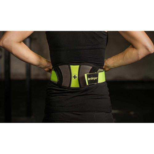 """Harbinger Women's 5"""" Contour FlexFit Weight Lifting Belt - Green/Black/Gray"""