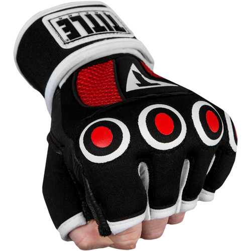 Title Boxing Gel Palm Training Pads Black//Red