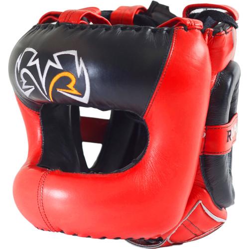 RIVAL Boxing RHG2 Leather Ultra Sleek Headgear Red