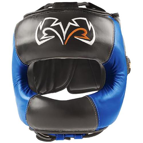Rival Boxing Face Guard Headgear - Black/Blue