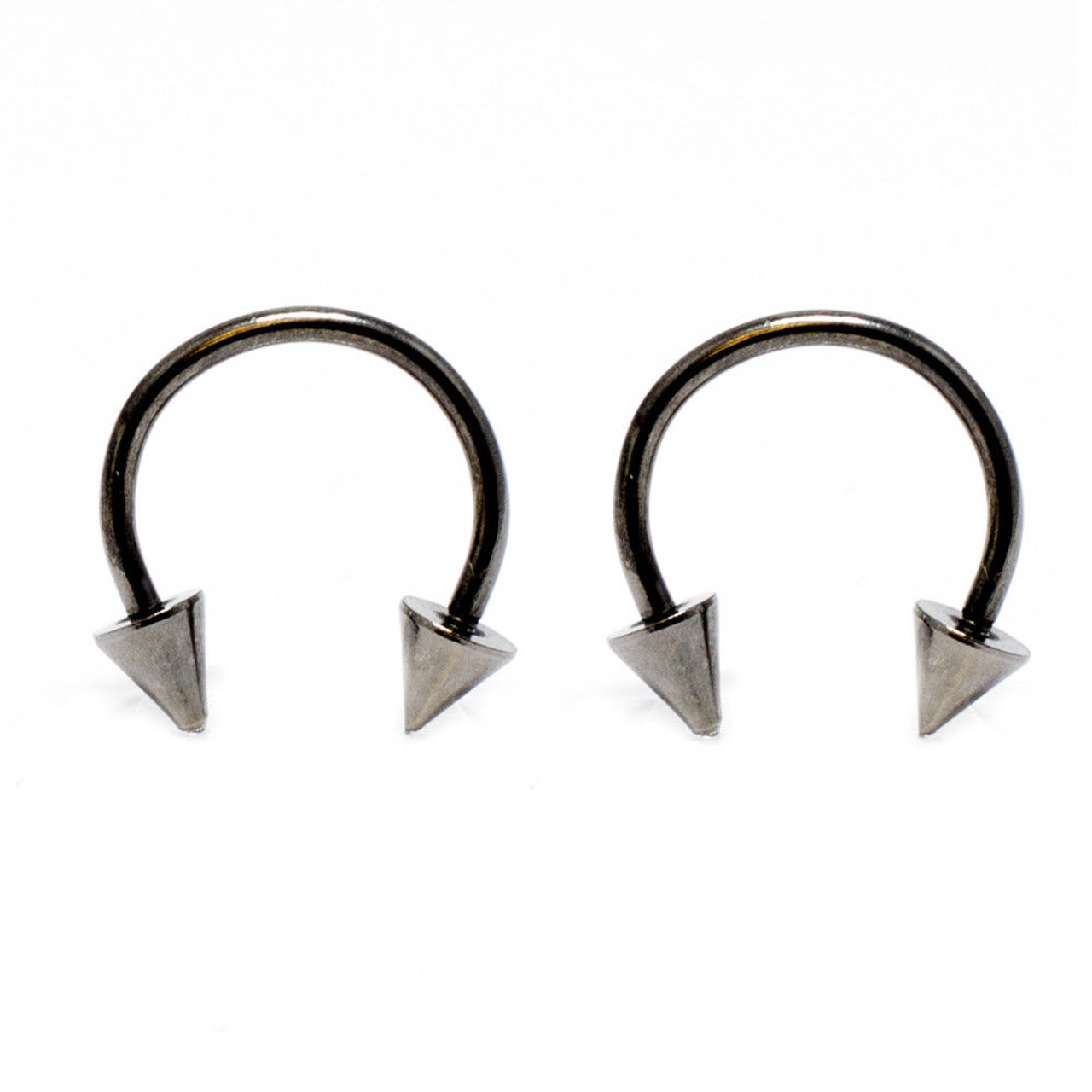 2 pc 16g Stainless Steel Lip Ring Gold and Black Labret Curved Bar Free Shipping