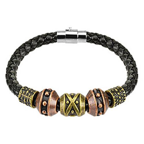 Black Leather Braid String Bracelet