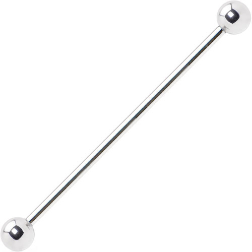 BodyJewelry.com 316L Surgical Steel Straight Industrial/Scaffold Barbell 14ga - Limited One FREE Item Per Order
