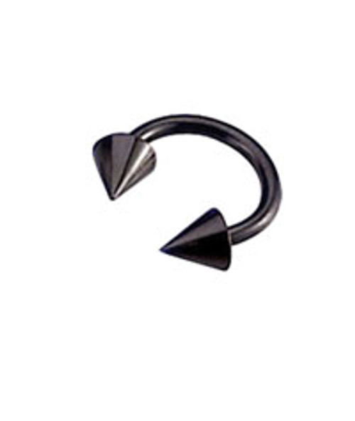 Black Anodized Titanium 14 gauge Horseshoe
