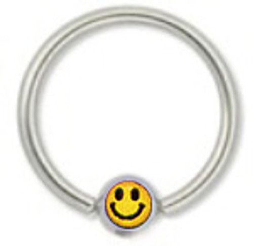 Ball Closure Steel Hoop with Face Logo