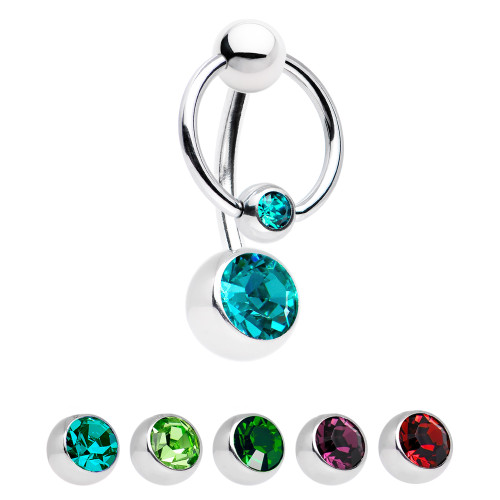 Door Knocker Belly Ring with CZ Jewels - Out of Stock