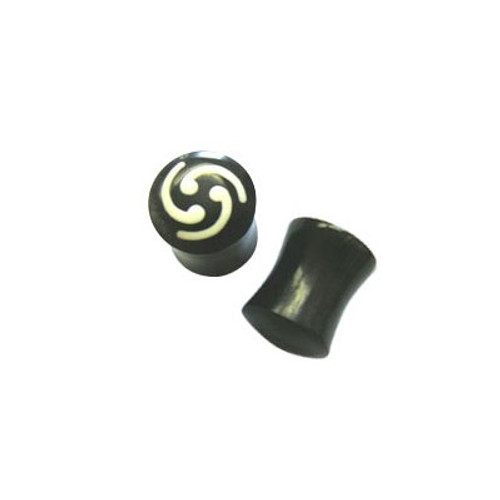Pair of Spiral Horn Ear Plug (000 gauge)
