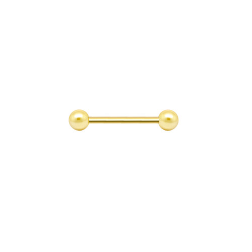 Tongue Ring 14K Solid Gold Piercing Barbell
