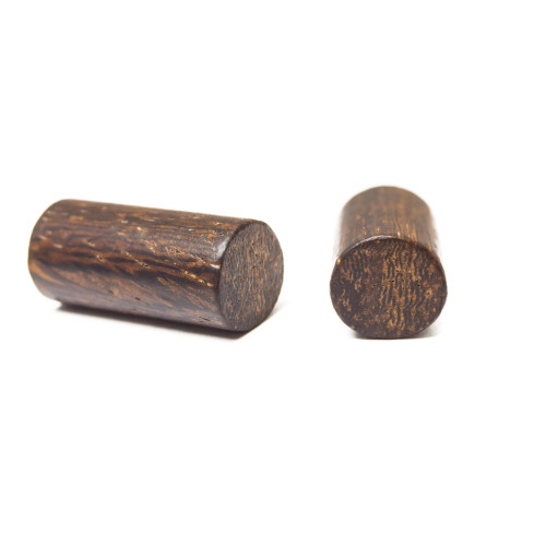 Ear Piercing Plugs - Pair of Organic Black Walnut Wood 0ga (8 mm)