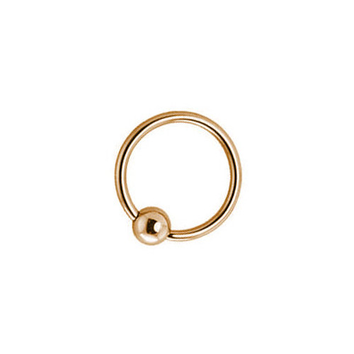 14k Solid Gold Captive Bead Ring 14 Gauge 1/2- 12mm