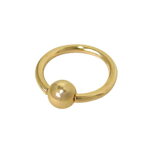 Captive Bead Ring 14k Solid Gold (18 Gauge)