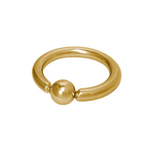 Captive Bead Ring Gold Plated Over Stainless Steel