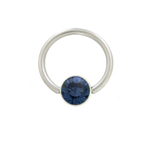 Captive Bead Ring Surgical Steel with Sterling Silver Jewel Replacement Bead