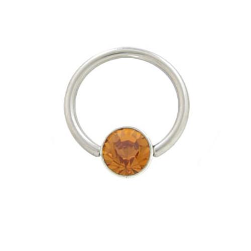Steel Jeweled Circular Ring