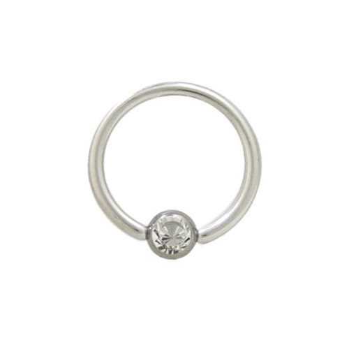 Captive Bead Ring Surgical Steel with Jewel