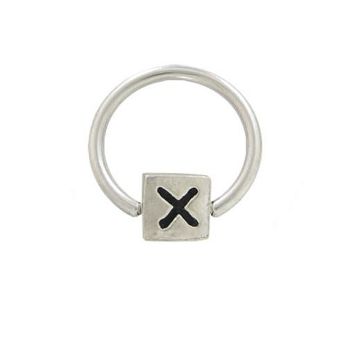 X Logo Bead Circular Barbell