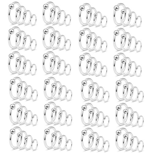 Captive Bead Ring Surgical Steel 100pcs 16ga or 14ga 8mm 10mm 11mm