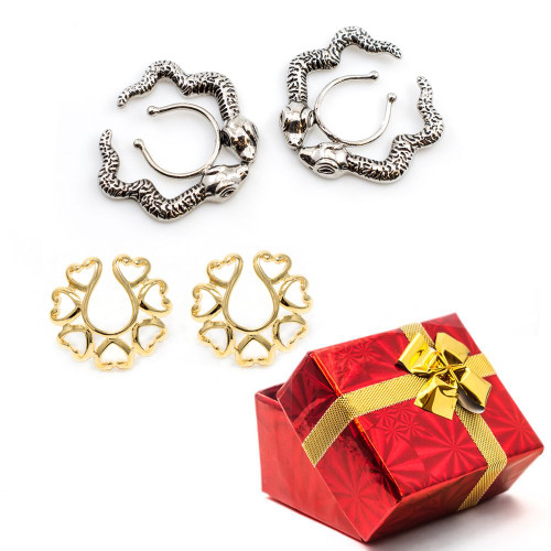 Holiday Gift Set Nipple Clips - 2 Pairs - Adjustable + Free Gift Box