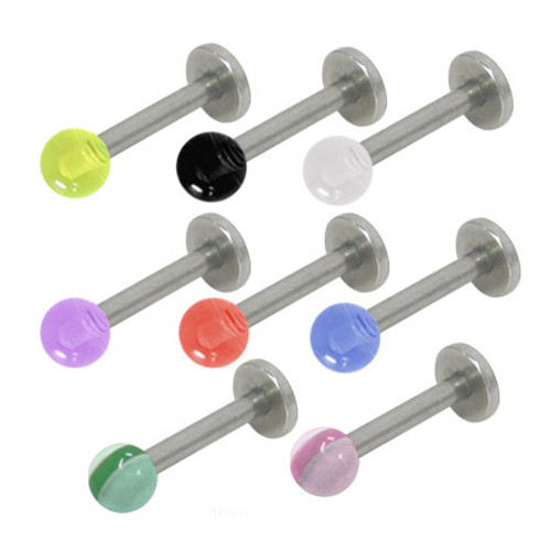 Colored UV Acrylic Ball Internal Threaded Labret