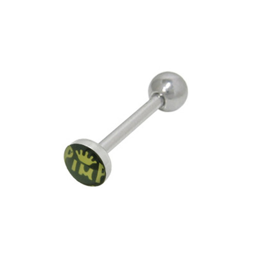 Crowned Pimp Tongue Barbell