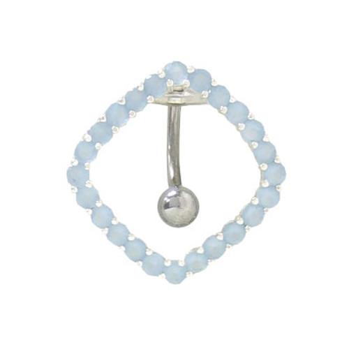 Jewel Chain Design 14 gauge Navel Barbell
