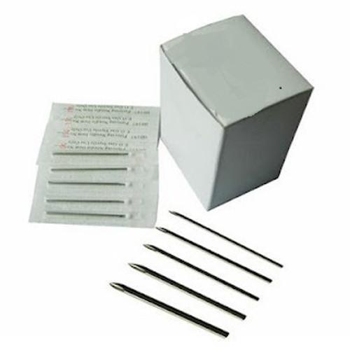 100 PC. Sterilized Body Piercing Needles (15G, 14G, 13G)