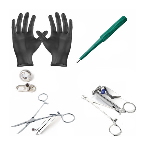 LionGothic Dermal Piercing Kit 33 Pieces