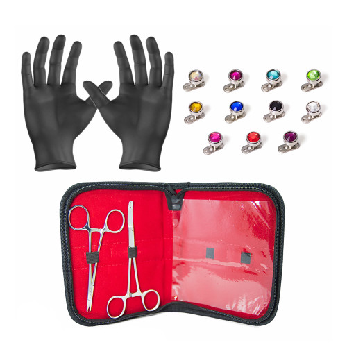 LionGothic Dermal Body Piercing Kit 27 Pieces