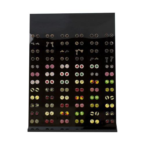 Stud Earrings Display Case - Assorted Designs 72 Pairs