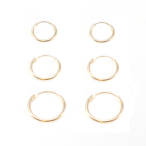Hinged Hoop Earring Vintage Look Gold Plated 22G Perfect for Nose, Cartilage, Helix, Rook -2pc