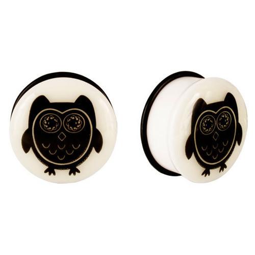 Pair of Flared Owl Ear Plugs (8 gauge to 20mm)