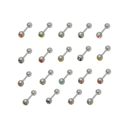 100 Logo Barbell Tongue Rings