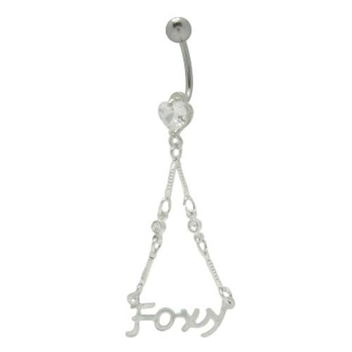 14 gauge Foxy Navel Dangler navel ring