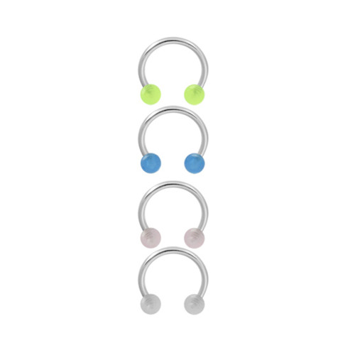 Glow in Dark Cartilage Tragus Horseshoe Ring Acrylic Ball Beads