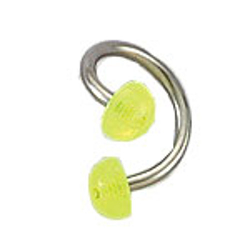 Body jewelry, 316L surgical steel with glow-in-the-dark Half-bead design, Twister ring
