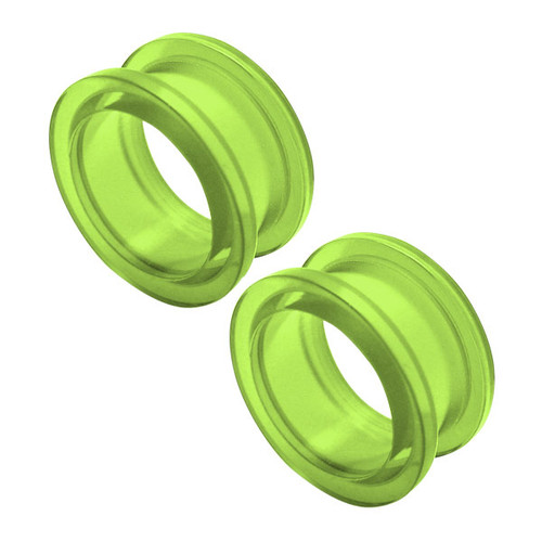 Green Acrylic Ear Plug (8 gauge to 3/4inch)
