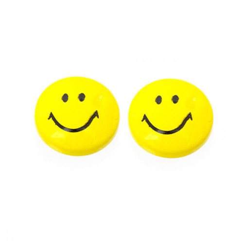 Pair of Smiley Face Design Magnetic Earrings 6mm