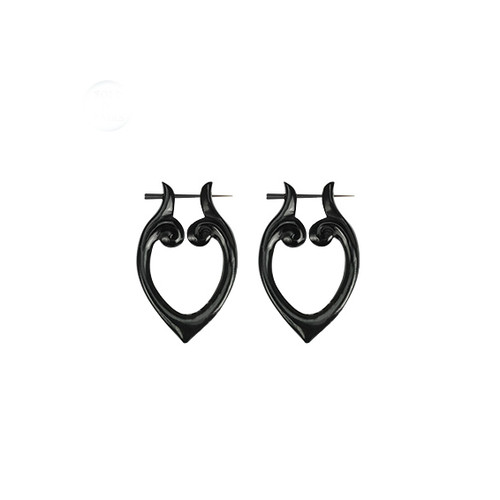 Heart Shaped Horn Earrings