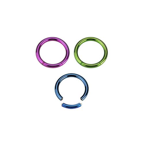 Segment Ring 14G Anodized Titanium