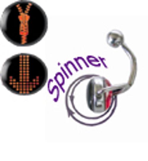 Zipper Spinner 14 gauge Belly Button Ring