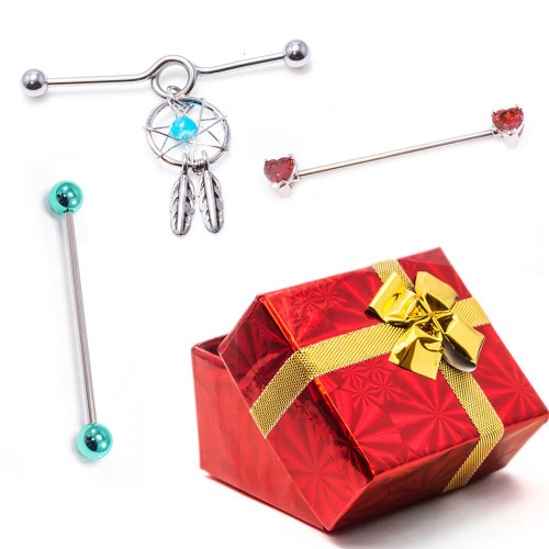 Pack of 3 Industrial  Barbells Holiday Gift Set+ Gift Box