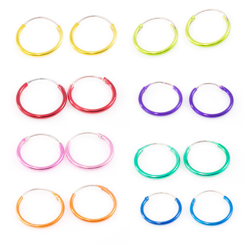 """Pair of Hinged Hoops 22 Gauge 1/2"""" (13mm) Perfect for Cartilage, Helix, Rook and Lobe"""