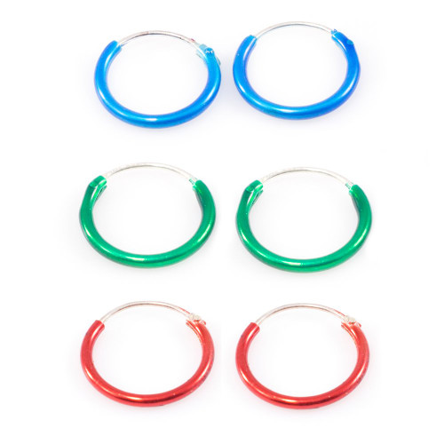 """Pair of Hinged Hoops 22 Gauge 3/8"""" (10mm) Perfect for Nose, Cartilage, Helix, Rook"""