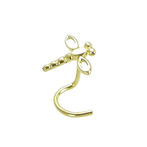14K Gold Dragonfly Nose Screw