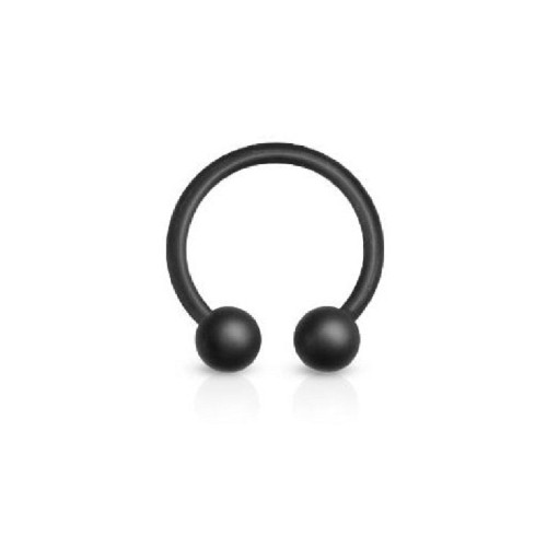 316L Surgical Steel Matte Black IP Horseshoe 16ga 14ga- Sold Each